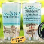 Personalized Beach To My Husband From Wife I Found My Missing Piece Stainless Steel Tumbler Perfect Gifts For Beach Lover Tumbler Cups For Coffee/Tea, Great Customized Gifts For Birthday Christmas Thanksgiving Wedding Valentine's Day