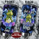 Personalized Frogs Flower A Girl Who Loves Frogs Stainless Steel Tumbler Perfect Gifts For Frog Lover Tumbler Cups For Coffee/Tea, Great Customized Gifts For Birthday Christmas Thanksgiving