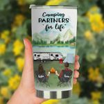 Personalized Camping Partners For Life Stainless Steel Tumbler, Tumbler Cups For Coffee/Tea, Great Customized Gifts For Birthday Christmas Thanksgiving