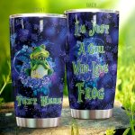 Personalized Frog Loves Frog Stainless Steel Tumbler Perfect Gifts For Frog Lover Tumbler Cups For Coffee/Tea, Great Customized Gifts For Birthday Christmas Thanksgiving