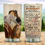 Personalized Cowboy To My Husband From Wife I Will Choose You Stainless Steel Tumbler Perfect Gifts For Couple Tumbler Cups For Coffee/Tea, Great Customized Gifts For Birthday Christmas Thanksgiving Wedding Valentine' Day
