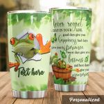 Personalized Frog Never Regret A Day In Your Life Stainless Steel Tumbler Perfect Gifts For Frog Lover Tumbler Cups For Coffee/Tea, Great Customized Gifts For Birthday Christmas Thanksgiving