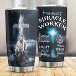 God Way Maker Miracle Worker Stainless Steel Tumbler Perfect Gifts For God Lover Tumbler Cups For Coffee/Tea, Great Customized Gifts For Birthday Christmas Thanksgiving