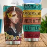 Redheads Are Sunshine Mixed With A Little Hurricane Stainless Steel Tumbler, Tumbler Cups For Coffee/Tea, Great Customized Gifts For Birthday Christmas Thanksgiving
