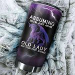 Dragon Assuming I'm Just An Old Lady Was Your First Mistake Stainless Steel Tumbler Perfect Gifts For Dragon Lover Tumbler Cups For Coffee/Tea, Great Customized Gifts For Birthday Christmas Thanksgiving