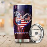 Butterfly Flower Independence Day Freedom Stainless Steel Tumbler Perfect Gifts For Butterfly Lover Tumbler Cups For Coffee/Tea, Great Customized Gifts For Birthday Christmas Thanksgiving