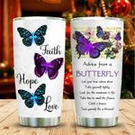 Jesus Christ Faith Hope Love Let  Your True Colors Show Stainless Steel Tumbler Perfect Gifts For Butterfly Lover Tumbler Cups For Coffee/Tea, Great Customized Gifts For Birthday Christmas Thanksgiving