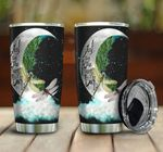Dragon And Moon I Love You To The Moon Stainless Steel Tumbler Perfect Gifts For Dragonfly Lover Tumbler Cups For Coffee/Tea, Great Customized Gifts For Birthday Christmas Thanksgiving