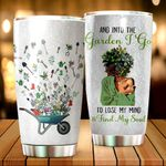 And Into The Garden I Go To Lose My Mind And Find My Soul Glitter Stainless Steel Tumbler Perfect Gifts For Gardening Lover Tumbler Cups For Coffee/Tea, Great Customized Gifts For Birthday Christmas Thanksgiving