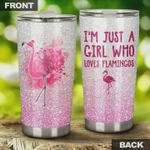 I'm Just A Girl Who Loves Flamingos Stainless Steel Tumbler, Tumbler Cups For Coffee/Tea, Great Customized Gifts For Birthday Christmas Thanksgiving