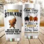 Dachshund Dog Personal Stalker Glitter Stainless Steel Tumbler Perfect Gifts For Dog Lover Tumbler Cups For Coffee/Tea, Great Customized Gifts For Birthday Christmas Thanksgiving