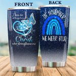 Diabetes Awareness Glitter Stainless Steel Tumbler Perfect Gifts For Diabetes Fighter Tumbler Cups For Coffee/Tea, Great Customized Gifts For Birthday Christmas Thanksgiving
