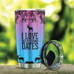 I Love Deer Stand Dates Stainless Steel Tumbler, Tumbler Cups For Coffee/Tea, Great Customized Gifts For Birthday Christmas Thanksgiving