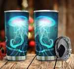 Shining Jellyfish Stainless Steel Tumbler, Tumbler Cups For Coffee/Tea, Great Customized Gifts For Birthday Christmas Thanksgiving