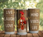 Chicken Laugh Everyday Stainless Steel Tumbler Perfect Gifts For Chicken Lover Tumbler Cups For Coffee/Tea, Great Customized Gifts For Birthday Christmas Thanksgiving