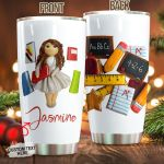 Personalized Teacher Stainless Steel Tumbler Perfect Gifts For Teacher Tumbler Cups For Coffee/Tea, Great Customized Gifts For Birthday Christmas Thanksgiving