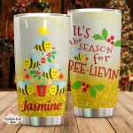 Personalized Bee Christmas It's The Season Stainless Steel Tumbler Perfect Gifts For Bee Lover Tumbler Cups For Coffee/Tea, Great Customized Gifts For Birthday Christmas Thanksgiving