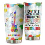 Personalized Autism Guitar I Don't Speak Much Stainless Steel Tumbler Perfect Gifts For Guitar Lover Tumbler Cups For Coffee/Tea, Great Customized Gifts For Birthday Christmas Thanksgiving