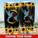 Personalized Sunflower Humming Bird Stainless Steel Tumbler Perfect Gifts For Hummingbird Lover Tumbler Cups For Coffee/Tea, Great Customized Gifts For Birthday Christmas Thanksgiving