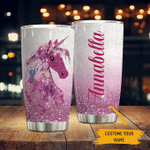 Personalized Unicorn Glitter Stainless Steel Tumbler Perfect Gifts For Unicorn Lover Tumbler Cups For Coffee/Tea, Great Customized Gifts For Birthday Christmas Thanksgiving