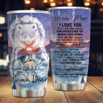 Personalized Bear To My Mom From Daughter For All The Times You Picked Me Up Stainless Steel Tumbler Perfect Gifts For Bear Lover Tumbler Cups For Coffee/Tea, Great Customized Gifts For Birthday Christmas Thanksgiving Mother's Day
