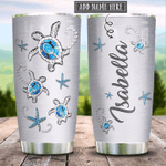 Personalized Sea Turtle Jewelry Stainless Steel Tumbler Perfect Gifts For Turtle Lover Tumbler Cups For Coffee/Tea, Great Customized Gifts For Birthday Christmas Thanksgiving