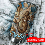 Personalized Mermaid Lady Stainless Steel Tumbler Perfect Gifts For Mermaid Lover Tumbler Cups For Coffee/Tea, Great Customized Gifts For Birthday Christmas Thanksgiving