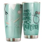 Personalized Nurse Can't Stay Home I'm A Nurse Stainless Steel Tumbler Perfect Gifts For Nurse Lover Tumbler Cups For Coffee/Tea, Great Customized Gifts For Birthday Christmas Thanksgiving