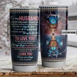 Personalized Butterfly To My Husband From Wife Here I Am Living The Dream Stainless Steel Tumbler Perfect Gifts For Teacher Lover Tumbler Cups For Coffee/Tea, Great Customized Gifts For Birthday Christmas Thanksgiving Wedding Valentine's Day