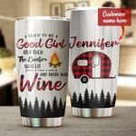Personalized Camping The Bonfire Was Lit Stainless Steel Tumbler Perfect Gifts For Camping Lover Tumbler Cups For Coffee/Tea, Great Customized Gifts For Birthday Christmas Thanksgiving