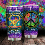 Personalized Hippie Van On The Dark Desert Highway Cool Wind In My Hair Stainless Steel Tumbler Perfect Gifts For Hippie Tumbler Cups For Coffee/Tea, Great Customized Gifts For Birthday Christmas Thanksgiving
