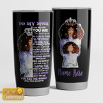 Personalized Black Warrior To My Mom From Daughter I Love You With All My Heart Stainless Steel Tumbler Perfect Gifts For Black Mom Tumbler Cups For Coffee/Tea, Great Customized Gifts For Birthday Christmas Thanksgiving Mother's Day