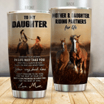 Personalized Horse Riding To My Daughter From Mom Wherever The Journey In Life May Take You Stainless Steel Tumbler Perfect Gifts For Horse Riding Lover Tumbler Cups For Coffee/Tea, Great Customized Gifts For Birthday Christmas Thanksgiving