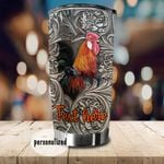 Personalized Rooster Stainless Steel Tumbler Perfect Gifts For Chicken Lover Tumbler Cups For Coffee/Tea, Great Customized Gifts For Birthday Christmas Thanksgiving
