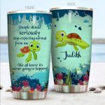 Personalized Turtle People Should Really Stop Expecting Normal From Me Stainless Steel Tumbler Perfect Gifts For Turtle Lover Tumbler Cups For Coffee/Tea, Great Customized Gifts For Birthday Christmas Thanksgiving