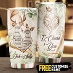 Personalized Deer Hunting I Would Choose You In A Hundred Lifetimes Stainless Steel Tumbler Perfect Gifts For Hunting Lover Tumbler Cups For Coffee/Tea, Great Customized Gifts For Birthday Christmas Thanksgiving Wedding Valentine's Day