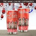 Personalized Cats Christmas Gilter A Girl Who Loves Cats Stainless Steel Tumbler Perfect Gifts For Cat Lover Tumbler Cups For Coffee/Tea, Great Customized Gifts For Birthday Christmas Thanksgiving