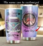 Personalized Hippie Heart Gypsy Soul Stainless Steel Tumbler Perfect Gifts For Hippie Tumbler Cups For Coffee/Tea, Great Customized Gifts For Birthday Christmas Thanksgiving