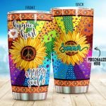Personalized Hippie Heart Gypsy Soul Stainless Steel Tumbler, Tumbler Cups For Coffee/Tea, Great Customized Gifts For Birthday Christmas Thanksgiving