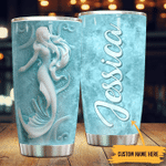 Personalized  Mermaid Lovers Stainless Steel Tumbler Perfect Gifts For Mermaid Lover Tumbler Cups For Coffee/Tea, Great Customized Gifts For Birthday Christmas Thanksgiving