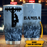 Personalized Lineman Stainless Steel Tumbler Perfect Gifts For Lineman Tumbler Cups For Coffee/Tea, Great Customized Gifts For Birthday Christmas Thanksgiving