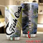 Personalized Fish On Stainless Steel Tumbler Perfect Gifts For Fishing Lover Tumbler Cups For Coffee/Tea, Great Customized Gifts For Birthday Christmas Thanksgiving