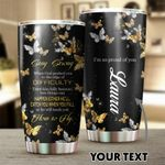 Personalized Butterfly When God Pushed You To The Edge Of Difficulty Stainless Steel Tumbler Perfect Gifts For Butterfly Lover Tumbler Cups For Coffee/Tea, Great Customized Gifts For Birthday Christmas Thanksgiving