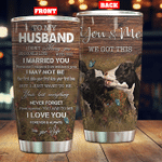 Personalized Cow To My Husband From Wife I Love You Stainless Steel Tumbler Perfect Gifts For Cow Lover Tumbler Cups For Coffee/Tea, Great Customized Gifts For Birthday Christmas Thanksgiving Wedding Valentine's Day