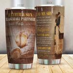 Personalized Baseball To My Son From Dad You Will Never Lose Stainless Steel Tumbler Perfect Gifts For Baseball Lover Tumbler Cups For Coffee/Tea, Great Customized Gifts For Birthday Christmas Thanksgiving