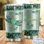 Personalized Dragonfly Green Flower Stainless Steel Tumbler Perfect Gifts For Dragonfly Lover Tumbler Cups For Coffee/Tea, Great Customized Gifts For Birthday Christmas Thanksgiving