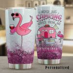 Personalized Flamingo Never Take Camping Advice From Me You'll Only End Up Drunk Stainless Steel Tumbler, Tumbler Cups For Coffee/Tea, Great Customized Gifts For Birthday Christmas Thanksgiving