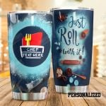 Personalized Chef Just Roll With It Stainless Steel Tumbler, Tumbler Cups For Coffee/Tea, Great Customized Gifts For Birthday Christmas Thanksgiving