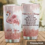 Personalized Advice From A Flamingo Find The Right Balance Show Your True Color Don't Be Afraid To Get Your Feet Wet Stainless Steel Tumbler, Tumbler Cups For Coffee/Tea, Great Customized Gifts For Birthday Christmas Thanksgiving