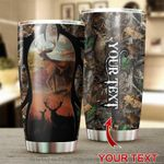 Personalized Deer Hunting Stainless Steel Tumbler Perfect Gifts For Hunting Deer Lover Tumbler Cups For Coffee/Tea, Great Customized Gifts For Birthday Christmas Thanksgiving